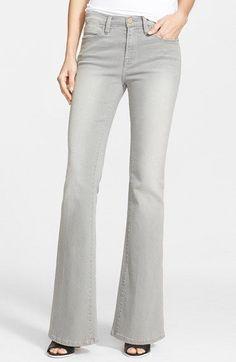 New Frame Denim Le High Flare High Waist Jeans in Hardy Grey wash $220 Retail #FrameDenim #Flare