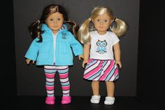 American Girl 18 Doll Girls Mix and Match 4 Piece Owl by weeline, $29.50