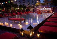 Pool Bar del Faena Hotel. Faena Hotel Buenos Aires.