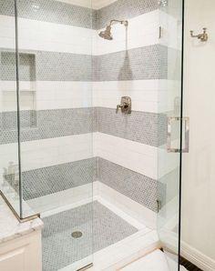 Brilliant Subway Tile Ideas You�ve Never Seen Before  via @PureWow Minimalist Bathroom, Minimalist Design, Alcove, Bathtub, Boho, Bath Tube, Minimal Design, Bath Tub, Tubs