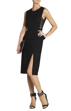 BCBGMAXAZRIA Megaen Sleeveless Side Lace-Insert Dress | BCBG.com