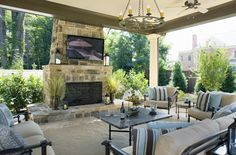Outdoor living are...perfect place to relax with friends and family!