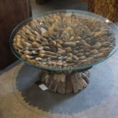 Furniture, Exotic Round Coffee Table With Top Glass: Unique Coffee Table Ideas Product