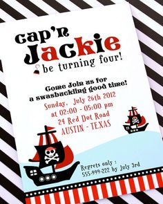Printable Pirate Party Invitations Free