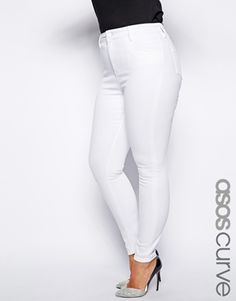 Asos curve Ridley Jeans white