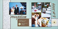 2 page scrapbook idea for opening page for the Wedding reception