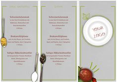 The Modern Restaurant Trifold Menu is presented on a DIN A4 page which can be printed front and back to showcase all your carryout options. This trifold design creates an easy piece for your customers to take home. Create your own takeout menu with this trendy design in grey and green.