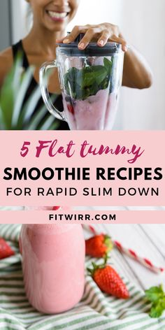 5 skinny smoothie recipes to lose weight quick and drop weight like crazy. These simple healthy smoothie recipes are easy to make. Easy Healthy Smoothie Recipes, Healthy Breakfast Smoothies, Good Smoothies, Healthy Drinks, Diet Drinks, Healthy Shakes, Healthy Foods, Healthy Smoothie Ingredients, Sonic Drinks