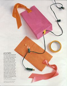 Paper bag lanterns - Description of how to make these beautiful paper bags lanterns.