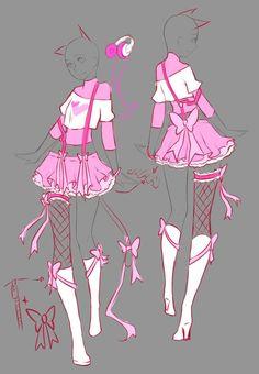 April Commissions - 4 by rika-dono.deviantart.com on @deviantART #CatGirl
