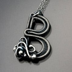 Custom Order  Fine Silver Initial Pendant  Letter by sarahndippity