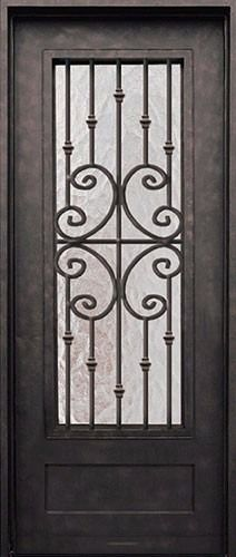 Beautiful wrought iron exterior doors at discount prices in Houston, Texas. Hand forged grilles with hand finished iron, these front doors are cheap on price but not on quality. Wrought Iron Doors, Arched Doors, Windows And Doors, Entry Doors, Entrance, Reforma Exterior, Window Grill Design, Front Door Makeover, Prehung Doors