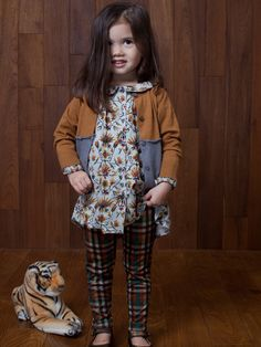 Painter's Smock Blouse - Maple Floral by Siaomimi from Little Citizens Boutique