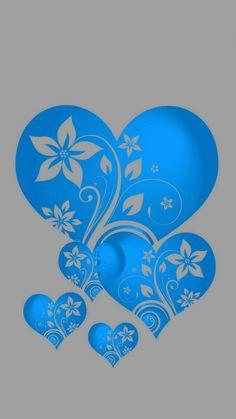 Blue hearts love wallpaper, apple wallpaper, heart wallpaper, wallpaper for your phone, Heart Wallpaper, Apple Wallpaper, Wallpaper Backgrounds, Iphone Wallpaper, Hearts And Roses, Blue Hearts, Motif Baroque, Free Adult Coloring, Heart Stencil