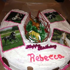 Horse Shoe Cake- Della's Delicious Goodies