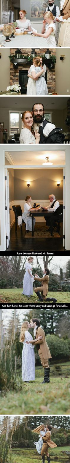 Pride and Prejudice ENGAGEMENT!!! hahaha this is pretty awesome. not likely but a girl can dream hahaha