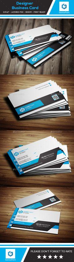 Designer Business Card Template PSD. Download here: http://graphicriver.net/item/designer-business-card/15927072?ref=ksioks