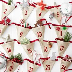 Shop linen advent calendar garland from Mark and Graham. Our expertly crafted collections offer a wide of range of personalized and monogrammed gifts, including a variety of linen advent calendar garland. Christmas Bunting, Christmas Sewing, Christmas Ornaments, Christmas Makes, All Things Christmas, Christmas Holidays, Christmas Kitchen, Christmas Countdown, Christmas Projects