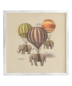 Look at this Weathered White Flight Of The Elephants Framed Wall Art on #zulily today!