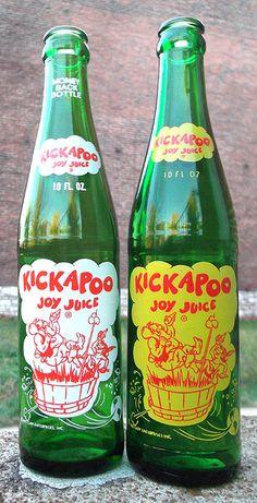 1977 1966 Kickapoo Joy Juice Soda Bottles by gregg_koenig, via Flickr