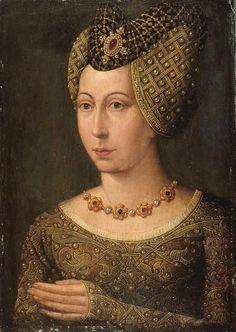 Marguerite de Bavière, duchesse de Bourgogne.  Posthumous.