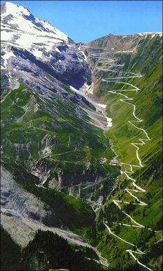 Voted best driving road in the world. STELVIO PASS in the Italian Alps is one of the highest mountain passes in all of Europe. Also one of the most dangerous roads in the world. The Places Youll Go, Places To See, Dangerous Roads, Zermatt, Belle Photo, Italy Travel, Norway Travel, Wonders Of The World, Places To Travel