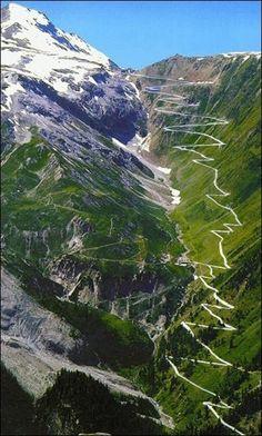 Stelvio Pass in the Italian Alps