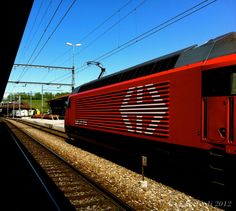 The Red Swiss Train