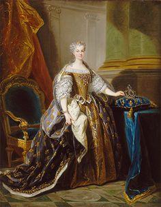 Jean-Baptiste VanLoo, Marie Leszczyńska, reine de France, vers1725,