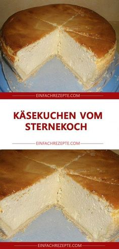 Cheesecake from the star chef 😍 😍 😍 - kuchen - cake recipes Easy Vanilla Cake Recipe, Easy Cake Recipes, Brownie Recipes, Cheesecake Recipes, Chocolate Recipes, Cookie Recipes, Dessert Recipes, Pear And Almond Cake, Star Chef