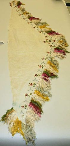 Shawl Date: ca. 1814 Culture: French Medium: silk, cotton Dimensions: Length: 83 in. cm) Credit Line: Purchase, Irene Lewisohn Bequest, 1982 Accession Number: Historical Costume, Historical Clothing, French Fashion, Vintage Fashion, Women's Fashion, Regency Era, Regency Gown, Fashion Accessories, Hair Accessories