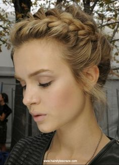 French braid hairstyle. For more braid hairstyle ideas and other cool hairstyles, check www.hairstylescraze.com.