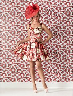 Review Melbourne Cup Fashion, Vintage Inspired Fashion, Stretch Satin, Satin Fabric, Poppies, Poppy Fields, Floral Prints, Pretty, Skirts