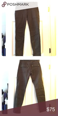 Jeans Dark green super soft & stretchy cargo jeans w/ inside ankle zipper (27) [never worn] 7 For All Mankind Jeans Straight Leg