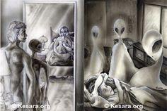 "ufosandaliens: ""The greys are very frightening "" Alien Abduction, Ufo, Statue, Aliens, Grey, Gray, Sculptures, Sculpture"
