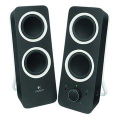 [CATALOGUE GÉNÉRAL 2015] Z200 Multimedia Speakers: Son stéréo riche et graves profonds. Deux transducteurs de 6,3 cm par haut-parleur. Entrée audio de 3,5 mm et ligne auxiliaire de 3,5 mm. Commandes intégrées. Prise casque intégrée. RÉF. MIDNIGHT BLACK : 980-000810 | RÉF. SNOW WHITE : 980-000811 http://www.exertisbanquemagnetique.fr/info-marque/logitech