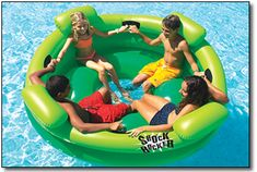 """Outrageous fun for every kid! They will spend hours rockin' and rollin' around the pool with the Shock Rocker. Constructed of heavy gauge vinyl the shock rocker measures 75"""" in diameter. 650 lb weight capacity. #summer #pool #swimming"""