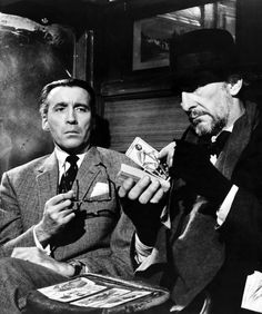 Christopher Lee & Peter Cushing in Dr. Terror's House Of Horrors