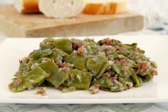 Judías verdes con jamón con thermomix - MisThermorecetas Main Dishes, Side Dishes, Banana French Toast, Cooking Recipes, Healthy Recipes, Green Beans, Healthy Life, Cravings, Food And Drink