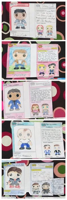 Check out how a teacher used Pop! Vinyl Figures as a characterization activity with her middle school students #lessonidea #outsiders (Photos courtesy of Heather Nicole Teraila)
