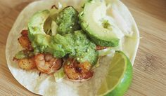 Easy Pan Seared Salsa Verde Shrimp Tacos (Rubio's Copy Cat Recipe)
