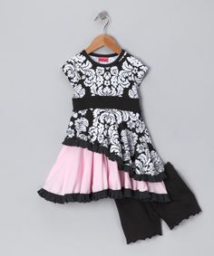 Take a look at this Black Got That Swing Dress & Bloomers - Infant, Toddler & Girls on zulily today!