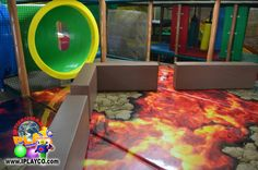themed mats in a children's playground structure - colorful, fun and great to add to your family entertainment center design.  We design, manufacture and install indoor play areas (jungle gyms) for all types of businesses.  #weBUILDfun #Iplayco #softplay #jungleGYM