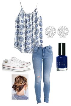 Untitled #19 by tessperdue on Polyvore featuring H&M, Billabong, Converse, Allurez and Bobbi Brown Cosmetics