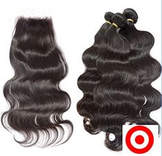 DaJun Hair 7A Free Part Lace Closure with 3 Bundles Brazilian Virgin Remy Human Hair Body Wave Natural Color (trademark:DaJun)20closure 202020weft * This is an Amazon Affiliate link. Details can be found by clicking on the image.
