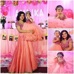 Birthday Dress Girls Daughters Party Ideas 32 Ideas For 2019 Mom Daughter Matching Outfits, Mommy Daughter Dresses, Mom And Baby Dresses, Mother Daughter Fashion, Baby Girl Party Dresses, Dresses Kids Girl, Dress Party, Girl Outfits, Baby Birthday Dress