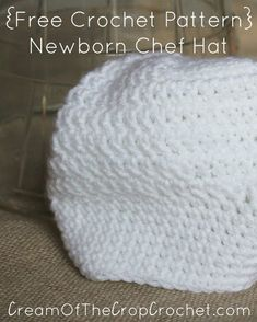b10b63ef16e This Newborn Chef Hat is perfect for a photo prop