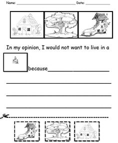 004 Opinion writing in kindergarten. Would you rather be a