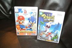 Lot of 2 Wii Games:  Mario & Sonic Olympic Games, Rabbids Go Home COMPLETE