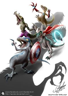 Raptor Squad : Age of Jurassic by Apolar.deviantart.com on @DeviantArt